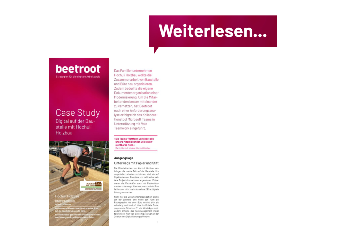 BEET_Vorschau Case Study_Hochuli Holzbau