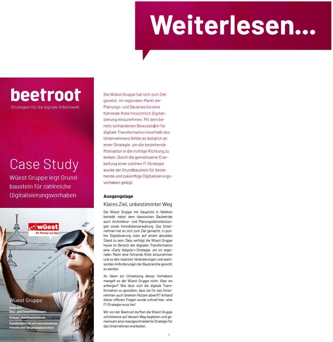 Case Study Digitalisierungsvorhaben Wüest